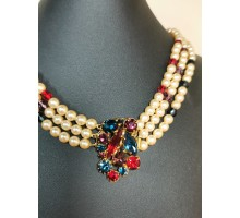 Necklace pearls Czechoslovakia