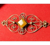 Brooch filigree amber