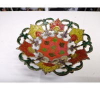 The candy bowl brass enamel