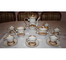 Coffee set brown flowers Baranovka