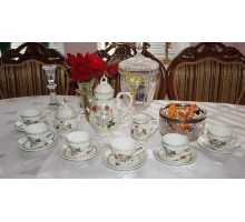 Coffee set rose Japan 60x