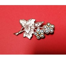 Silver brooch with gilding of the USSR