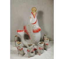 Damask red fish with fish Polonsky ZHK