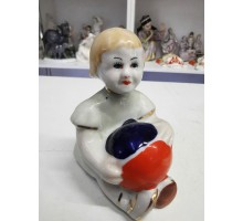Girl with a ball Gorodnitsky porcelain factory 60s